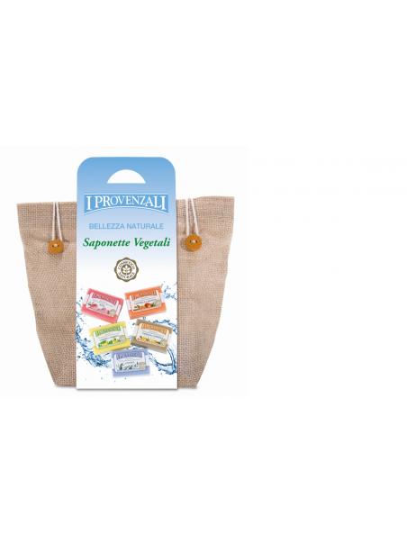 Provenzali Trousse Juta 5 Saponette vegetali