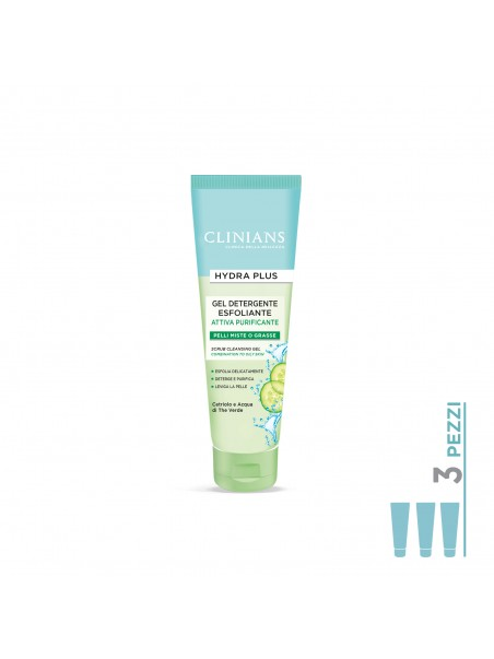 3Pack Gel Esfoliante Hydra Plus Clinians